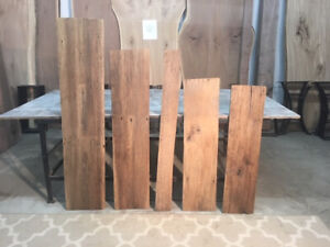"61"" TO 41"" X 13"" T0 5""  X 3/4"" RECLAIMED BOARDS! LUMBER! 5 PACK BARN WOOD! C-207"