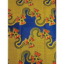 African Geo Squiggle Print Fabric BY 1/2 YARD Ankara kitenge fancy wax p1305