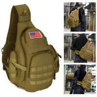 Tactical Military Sling Chest Pack Crossbody MOLLE Laptop Backpack Shoulder Bag