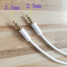 Male to Male 2.5mm to 2.5mm Stereo Headset Headphone Jack Gold Plated 3ft 1meter