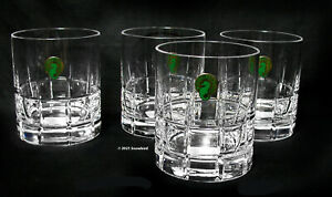 WATERFORD Barware - Double Old Fashioned - Cut Crystal - 12 oz - Set of 4 NEW!!