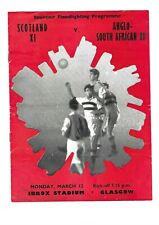 More details for 1957 scotland v anglo south african xi (friendly - played at rangers)