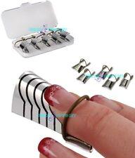 5 cartine in teflon per allungamento ricostruzione unghie nail art gecomarket