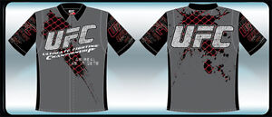 """UFC Shirt Grey Adult MMA Embroidered and Printed Logo's """"BLOWOUT SALE"""""""