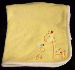 Child Of Mine Giraffe Yellow White Squeaker Fleece Baby Blanket Carter's Toucan