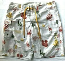 RVCA Boardshorts Size 33 All Over Print Spell Out Cargo Pocket