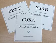 10 x Square Save The Dates Wedding