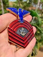 Navy Chief Gold Old School Chevron CPO Challenge Coin