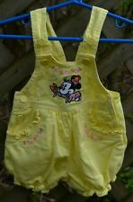 Mickey & Co Vintage Yellow Minnie Mouse and Butterfly Girl Overalls 3-6 Months