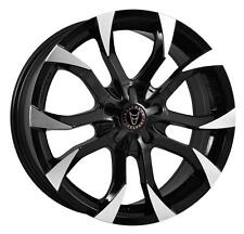 "18"" WOLFRACE ASSASSIN BLACK POLISHED ALLOY WHEELS BRAND NEW RIMS 5x108 et42"