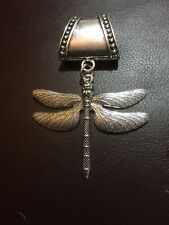 Silver Dragonfly Large Scarf Ring / Pendant Great Gift