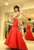 Jovani Evening Mermaid Open Back Dress 22623 Red size 6, NWT