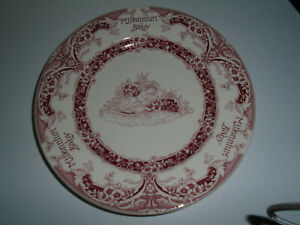 """Spode 2000 PINK/WHITE 8"""" MILLENIUM BABY PLATE-UNUSED A1"""