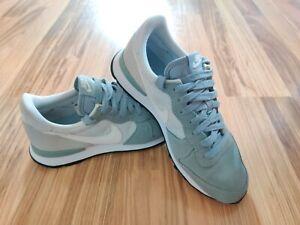 Nike Internationalist Running Shoes Women's 629684-011 Blue Gray White Size 7.5