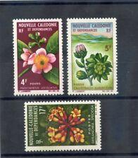NEW CALEDONIA Sc 333-4,7(YT 317-8,21)**F-VF NH 1964 FLOWER VALUES $36