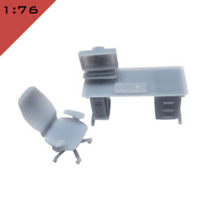 1x OFFICE FURNITURE SMALL SET 2 1:76, OO Model Miniature Interior Scenery Layout