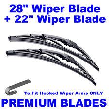 "Premium 28"" Inch & 22"" Inch Pair Front Windscreen Wiper Blades"