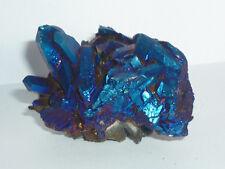 cristalloterapia DRUSA AQUA AURA BLU arcobaleno A+ BOX quarzo cristallo minerale