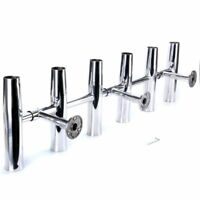 6 Tube Adjustable Rocket Launcher Rod Holder Rotated 360 Degree Stainless Steel