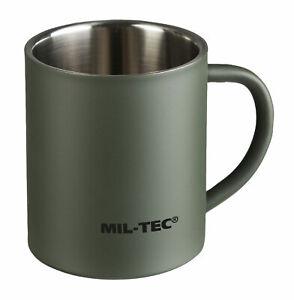 Mil-Tec Tasse Edelstahl doppelwandig 300 ml Trinkbecher Becher