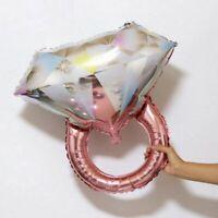"27"" Large Rose Gold Engagement Diamond Ring Shaped Foil Balloon Wedding Proposal"