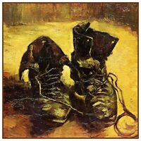 a Pair of Work Boots  by Vincent Van Gogh Counted Cross Stitch Pattern