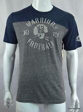 Lucky Brand Men's T Shirt L Warriors Football Lucky 13 Gray Blue NWT