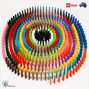 240pcs Wooden Domino Block Tiles Tumbling Doninoes Knock Down Kids Toy Gift AB