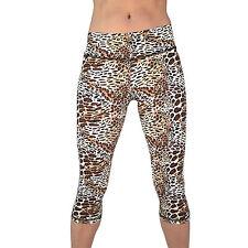 Yoga Capri Legging Cropped Women Pants Gym Workout Fitness Exercise Wear LG-221