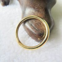 New Italy Style Pure 18K Yellow Gold Ring Women's & Child Smooth Ring US Size 6