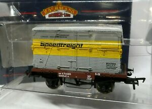 Bachmann 37-950 Conflat with BD Container SPEEDFREIGHT BNIB OO (j)