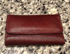 Pineider Burgundy Leather Key Case