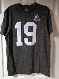 NFL Hall Of Fame Baltimore/ Indianapolis Colts Johnny Unitas #19 T-shirt, Medium