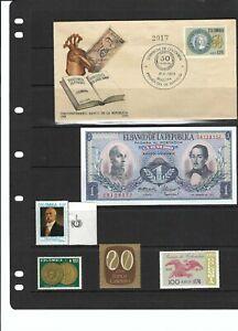''BANCO DE LA REPUBLICA.- COLOMBIA  CINCUENTENARIO  1923-1973  LOT. BANKS STAMPS
