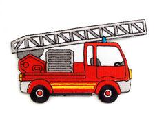 Applikation Feuerwehr Aufnäher Aufbügler Feuerwehrauto rot