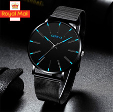 Mens Luxury Ultra Thin Quartz Stainless Steel Mesh Watch