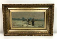 Antique Oil on Board 19th C French History Painting Georges Appert Listed Artist