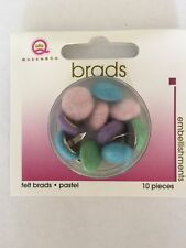 New  Queen & Co. Pastel Felt Brads 1x pkg of 10