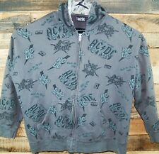 AC/DC Rockware Men's 2XL Hooded Zip Front Sweatshirt Hoodie #KC390