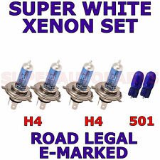 TVR CERBERA COUPE 1994+ SET OF H4 H4 501 XENON SUPER WHITE LIGHT BULBS