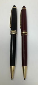 Montblanc Meisterstuck Black and Brown Mechanical Pencil and Pen Set