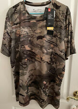 New Mens Under Armour HEATGEAR Iso-Chill Hunt  Forest Camouflage Shirt Size XL