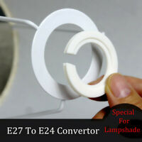 10/20PC E27 To E24 Lamp Shade Reducer Plate Light Fitting Ring Adapter Converter