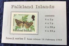 Falkland Islands Elizabeth II Insects Series 1 Booklet Un.Mint Left Margin Cyl.