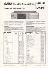 SABA Service Manual Anleitung HiFi 226 MT 380   B1633
