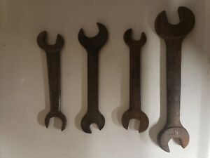 Antique Indian Motorcycle Wrench - Herbrand - Ford - Lot of 4