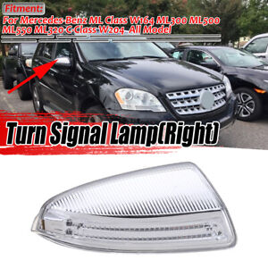 Front Right Passenger Mirror Turn Signal Light For Mercedes W164 ML Class US