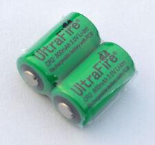 2pcs UltraFire CR2 800mAh 3.0V Rechargeable Li-Ion Battery Quantity 2