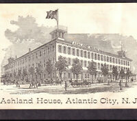 Atlantic City 1800's Ashland House Hotel NJ Ad 19th Century Victorian Trade Card