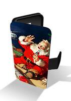 Santa Claus Vintage Coca Cola Drink Christmas Winter Wallet Leather Phone Case
